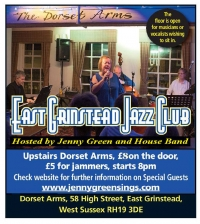 Tuesday 24th April 2018 - East Grinstead Jazz Club