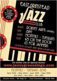 Tuesday 19th June 2018 - East Grinstead Jazz Club